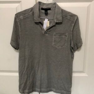 Men's Kenneth Cole Light Gray Shirt - Med
